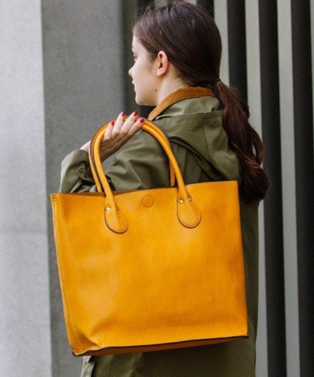 UNBILLION 【テレビ ドラマ着用アイテム】Otias シュリンクタイプ合皮トートバッグ オレンジ