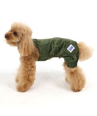 PET PARADISE Lee コーデュロイ オーバーオール 緑〔超小型犬・小型犬〕 緑