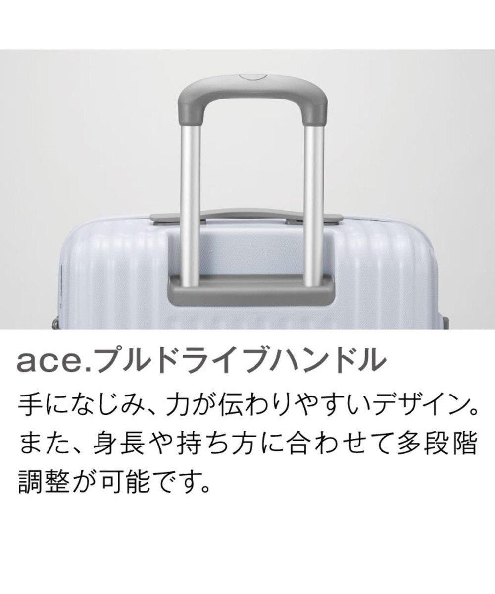 ACE BAGS & LUGGAGE ≪ace./エース≫ パリセイド2-Z スーツケース ジッパータイプ 94リット ホワイト