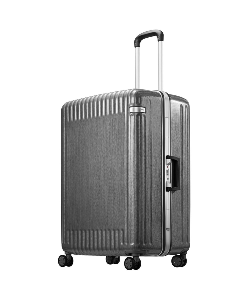 【オンワード】 ACE BAGS & LUGGAGE>バッグ ≪ace./エース≫ パリセイド2-F スーツケース フレームタイプ 93リット ブラック F レディース 【送料無料】