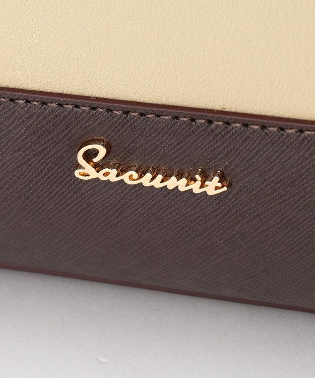 SAC 配色A4トートバッグ  SAC unit アイボリー