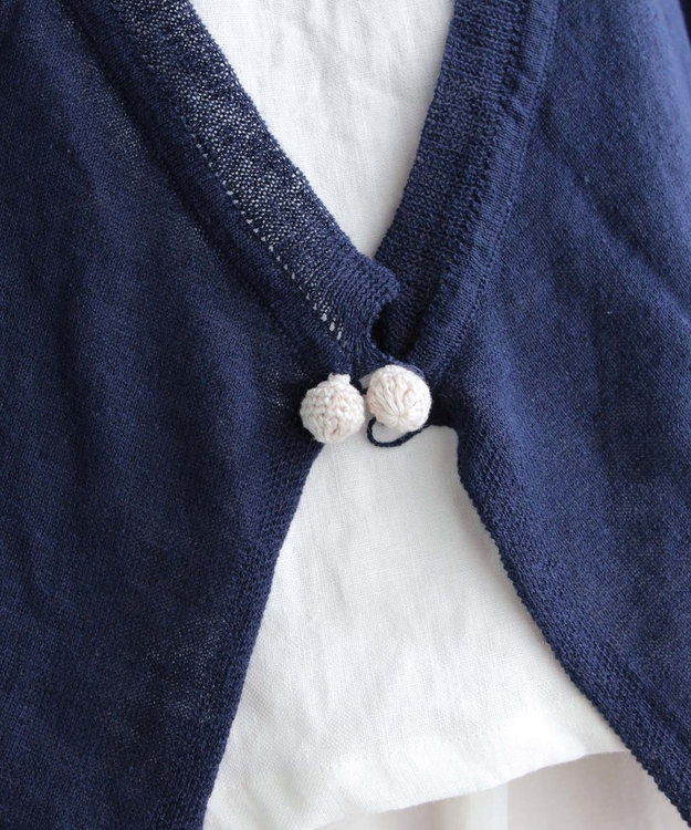 muuc 手編みのモチーフが付いたニットボレロ