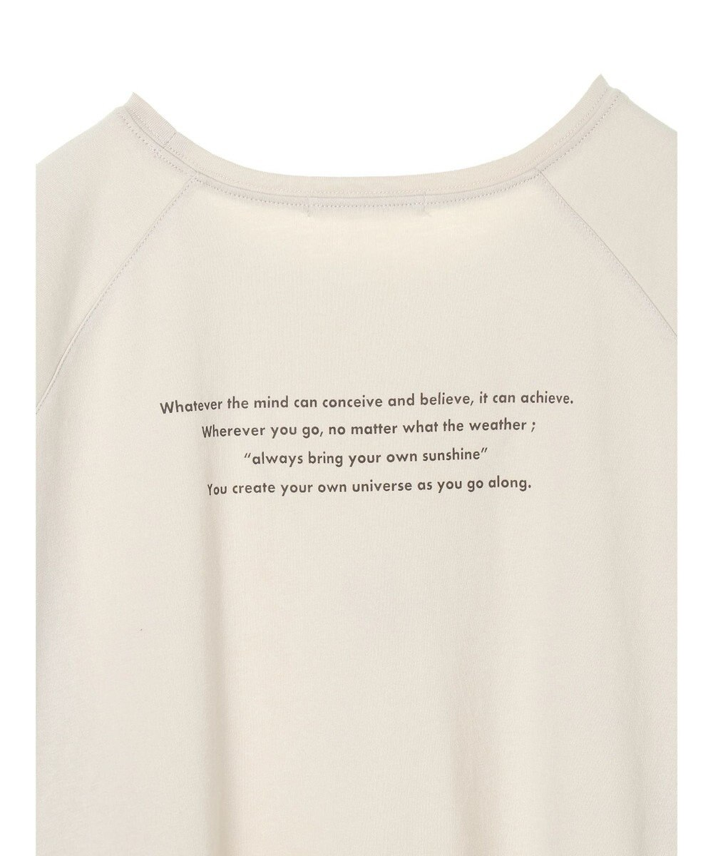 AMERICAN HOLIC ラグランロゴカット半袖プルオーバー Off White