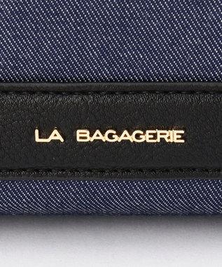 LA BAGAGERIE 【復刻リニューアル】デニムスクエアライン2wayトート ネイビー