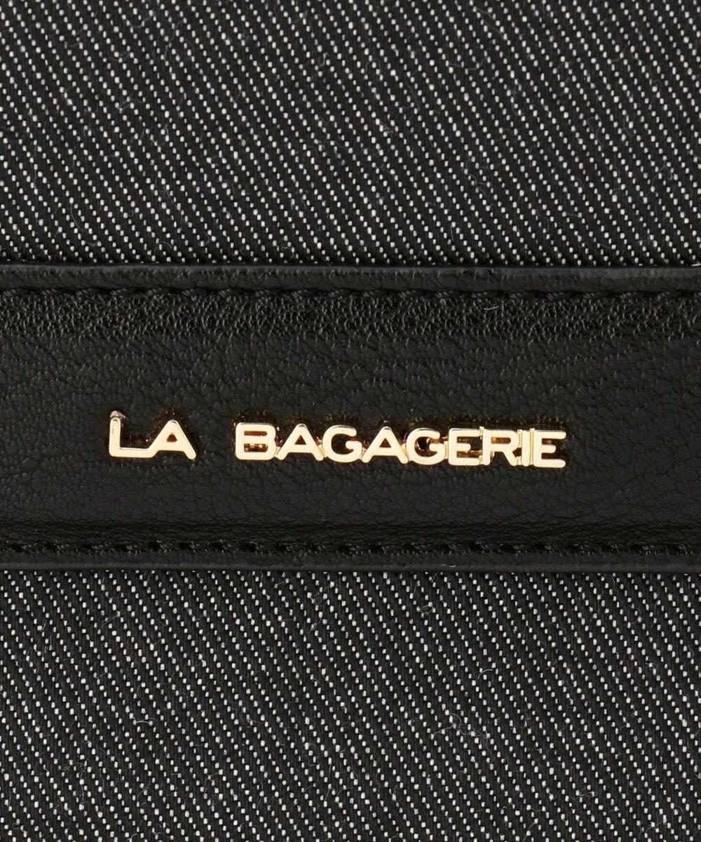 LA BAGAGERIE 【復刻リニューアル】デニムスクエアライントート ブラック