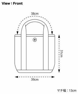 +RING 撥水トートバッグM トリコロール SR251 マルチカラー