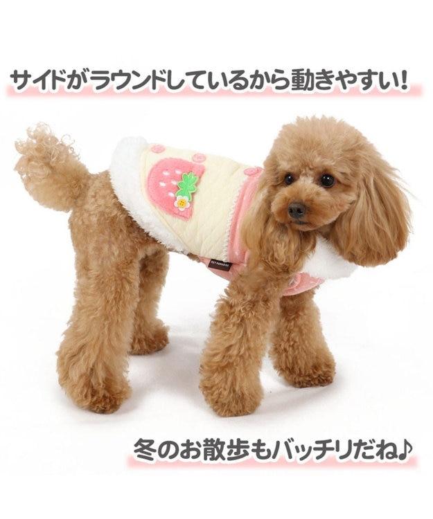 PET PARADISE ペットパラダイス 苺 ポケット背開き 綿入れ ベスト 〔小型犬〕