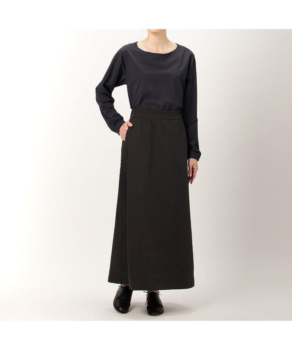 DANSKIN 【ストレッチ・UVケア・撥水】ストレッチロングスカート ブラック