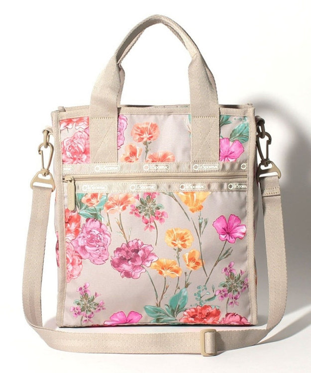 LeSportsac RE-SMALL N/S TOTE/エコ ローズ ガーデン