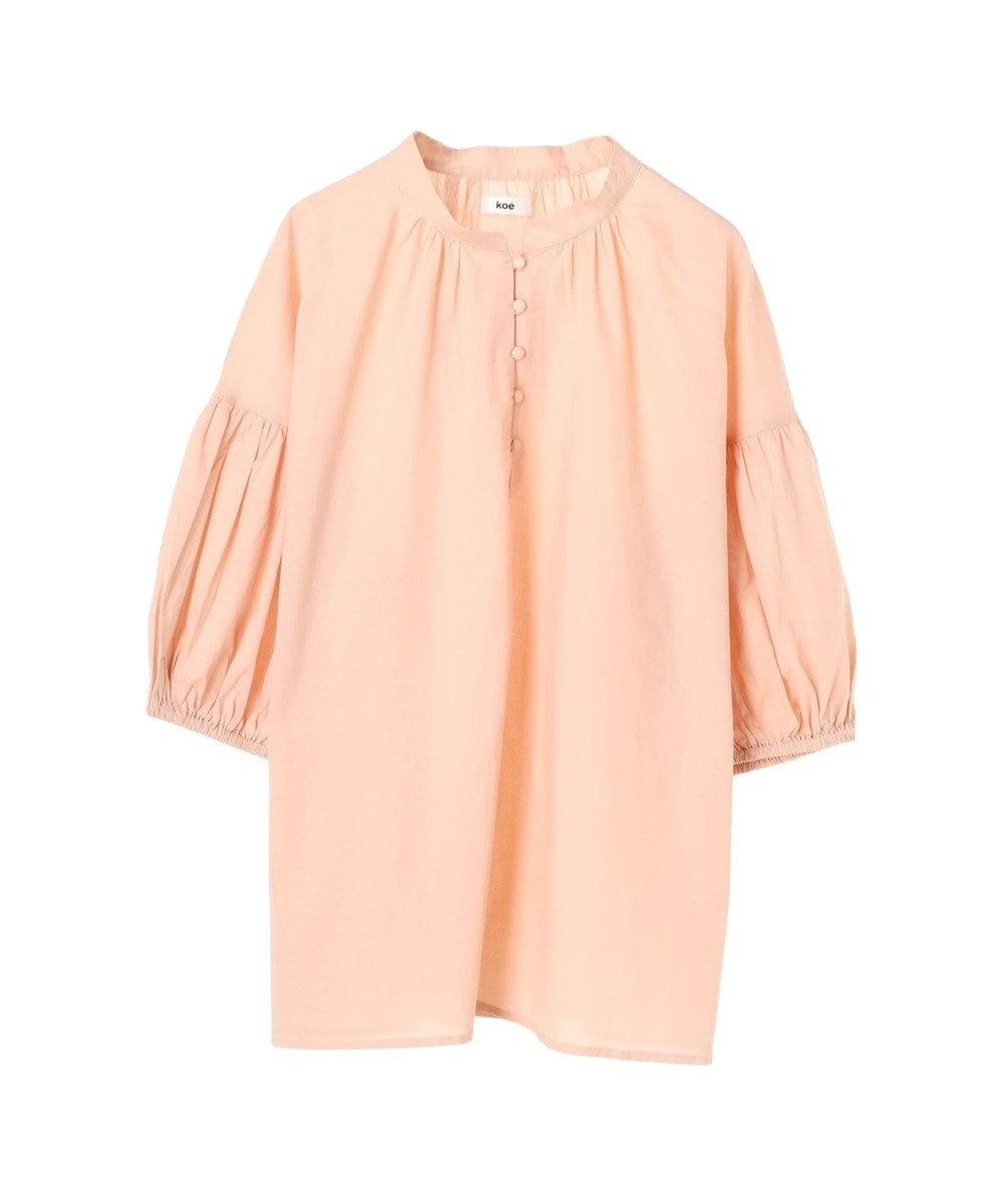 koe 共布くるみ釦袖ボリュームブラウス Orange