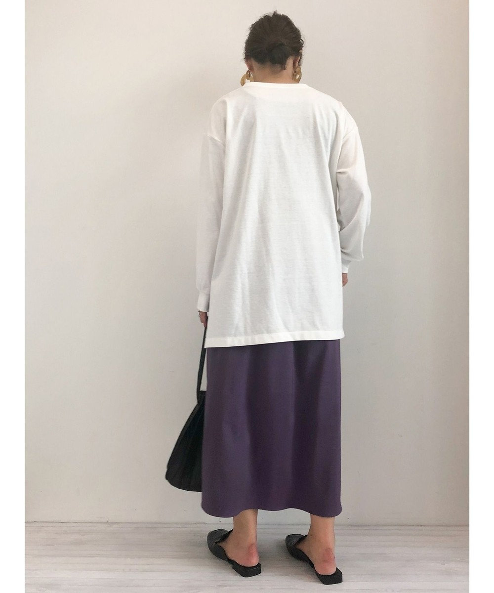 Green Parks サテンスカート Purple
