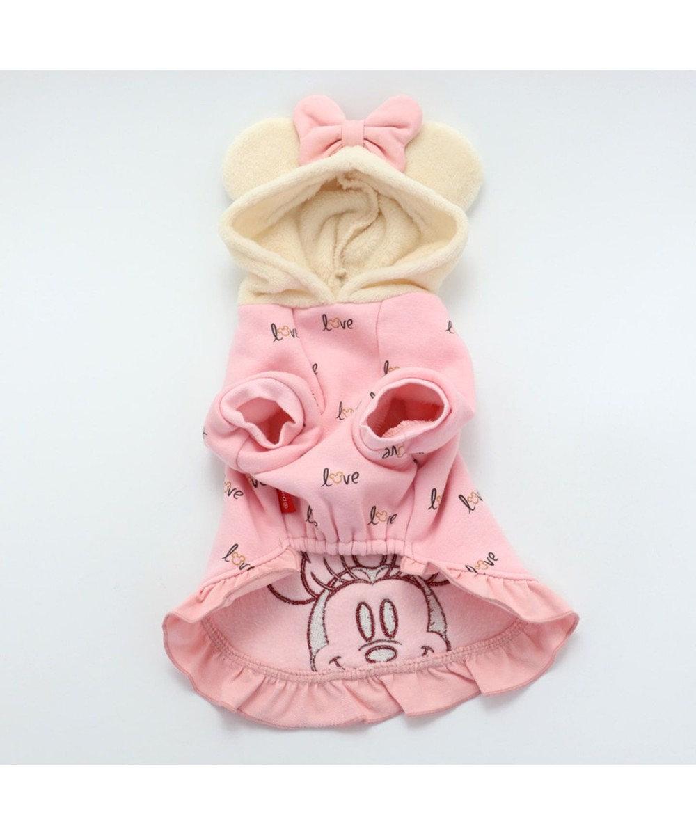 PET PARADISE ディズニーミニーマウス モコモコ パーカー  〔超小型・小型犬〕 ピンク(淡)