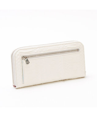 A.D.M.J. SNAKE LEATHER The Bee  ROUND WALLET BLEACH WHITE
