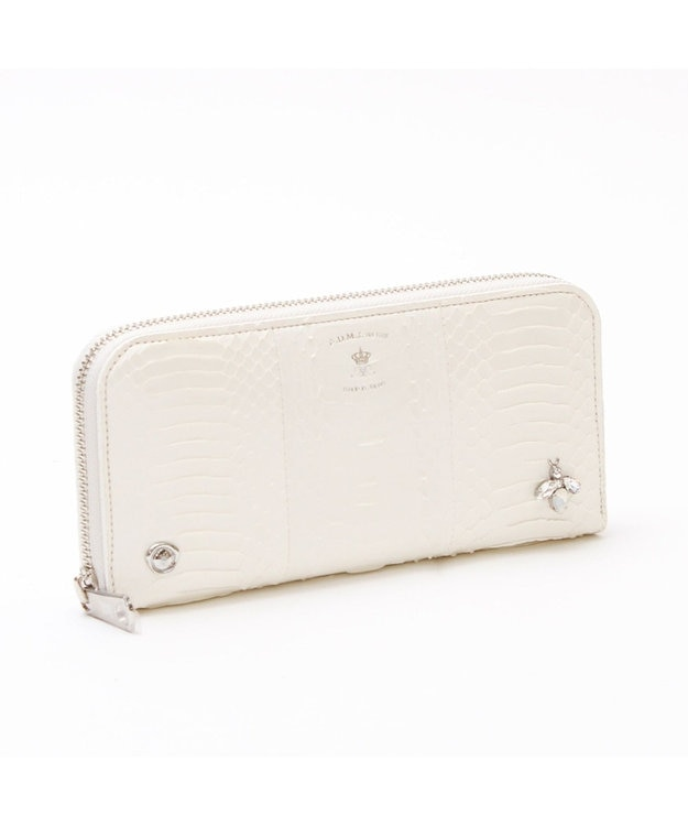 A.D.M.J. SNAKE LEATHER The Bee  ROUND WALLET