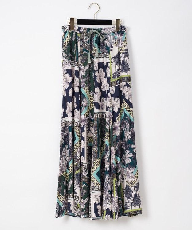 GRACE CONTINENTAL マキシプリントスカート