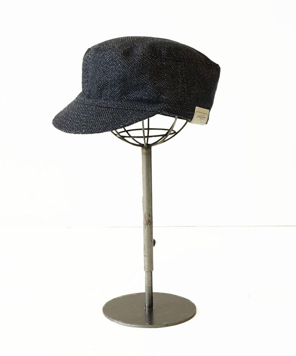 odds 【完売使用不可】TWEED WORK CAP 紺(ネイビー・インディゴ)
