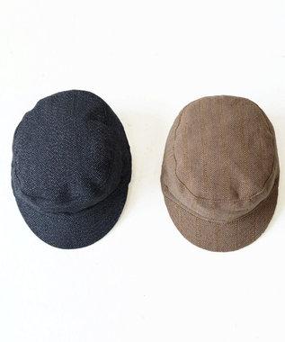 odds 【完売使用不可】TWEED WORK CAP 茶系