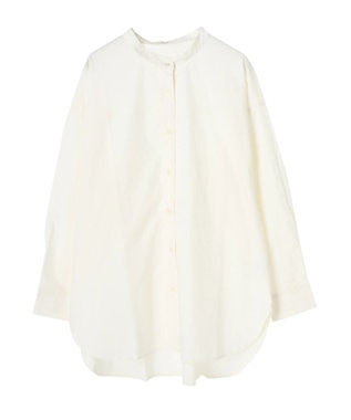 Green Parks バンドカラーシャツ Off White