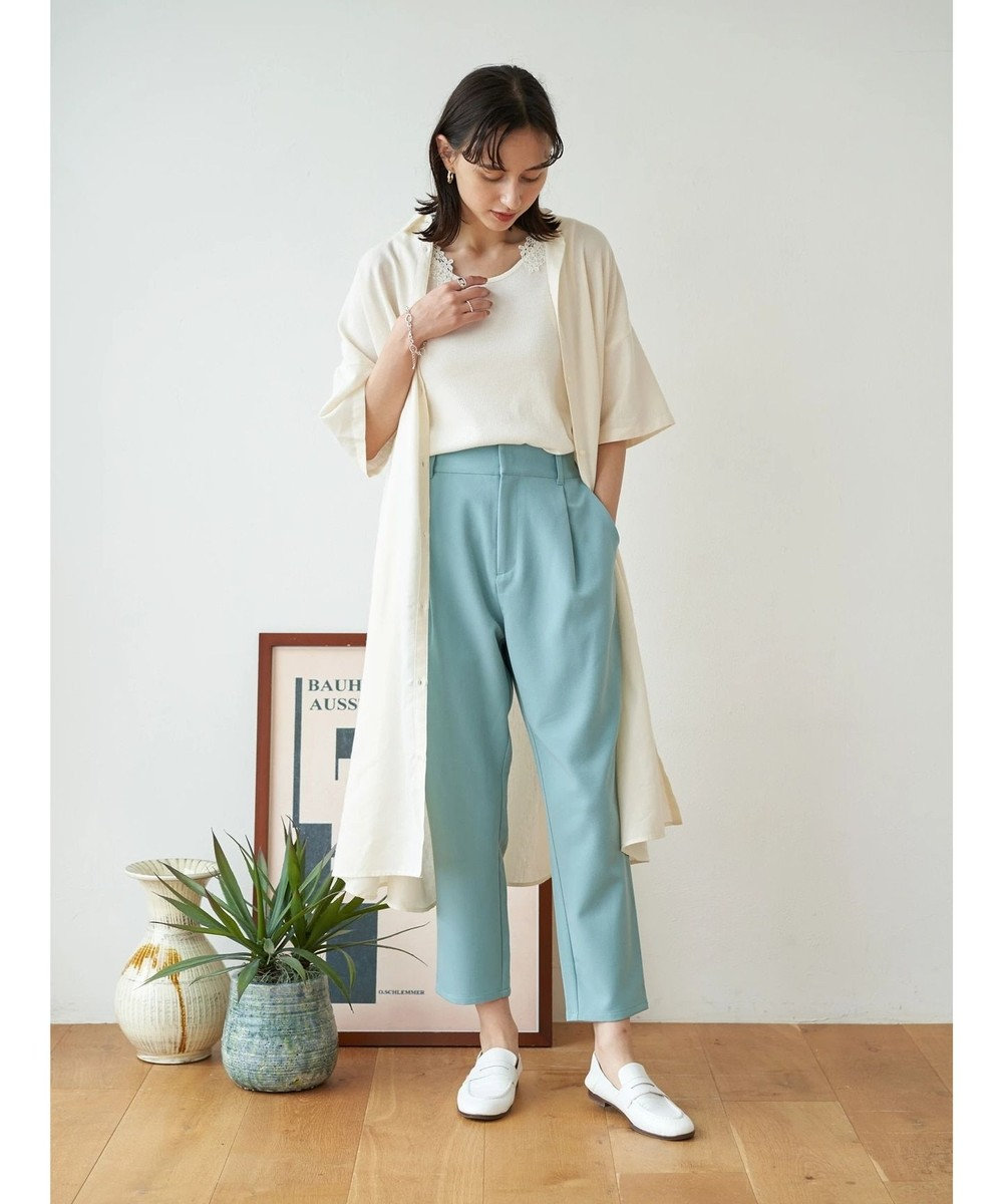 earth music&ecology 麻混シャツワンピース Off White