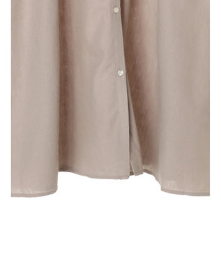 earth music&ecology 麻混シャツワンピース Gray Beige