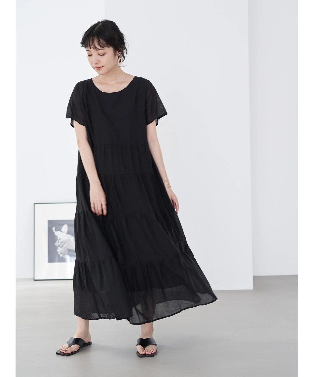 earth music&ecology ティアードワンピース Black