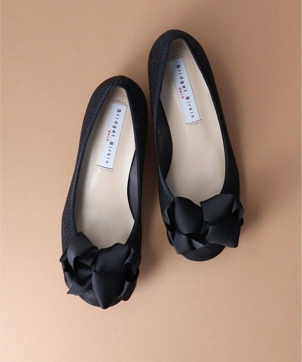 Bridget Birkin 【Bridget Birkin Walk】ボリュームリボンウォーキングパンプス ブラック雑材
