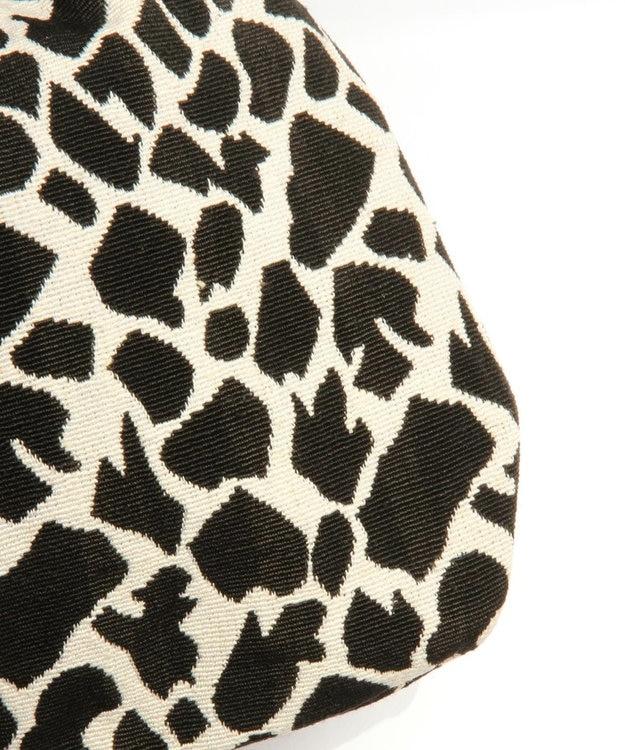 WYTHE CHARM 手織りジャガードフリンジ巾着ショルダーバッグ(レオパード柄)