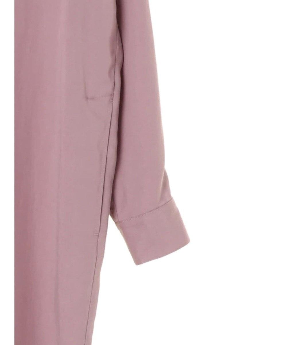 YECCA VECCA ポケット付きスリットロングシャツ Lavender