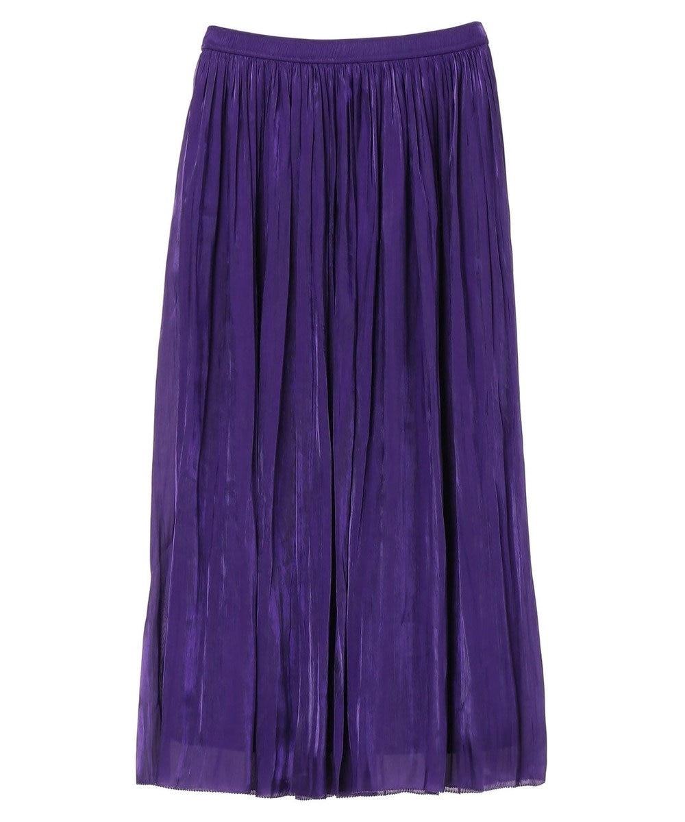 YECCA VECCA シャイニーギャザーロングスカート Purple