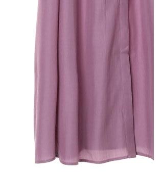 YECCA VECCA ベルト付きギャザーシャツワンピース Lavender