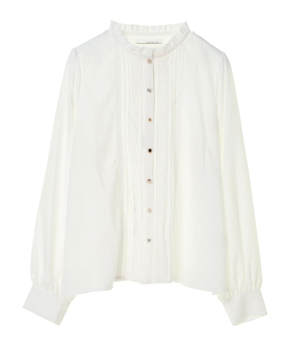 Green Parks ・ELENCARE DUE プチハイネックブラウス Off White