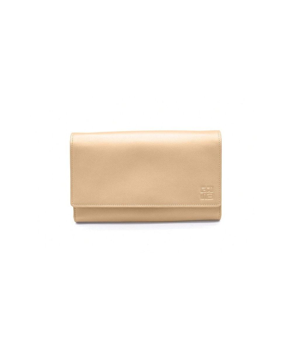 MIYABIYA GRES コパン スムースレザー お財布機能付き2wayポーチショルダー ゴールド