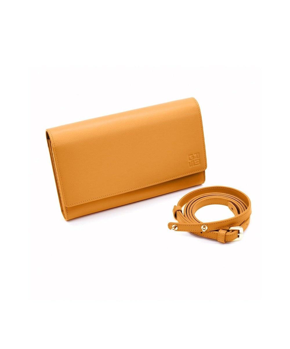 MIYABIYA GRES コパン スムースレザー お財布機能付き2wayポーチショルダー ブリック