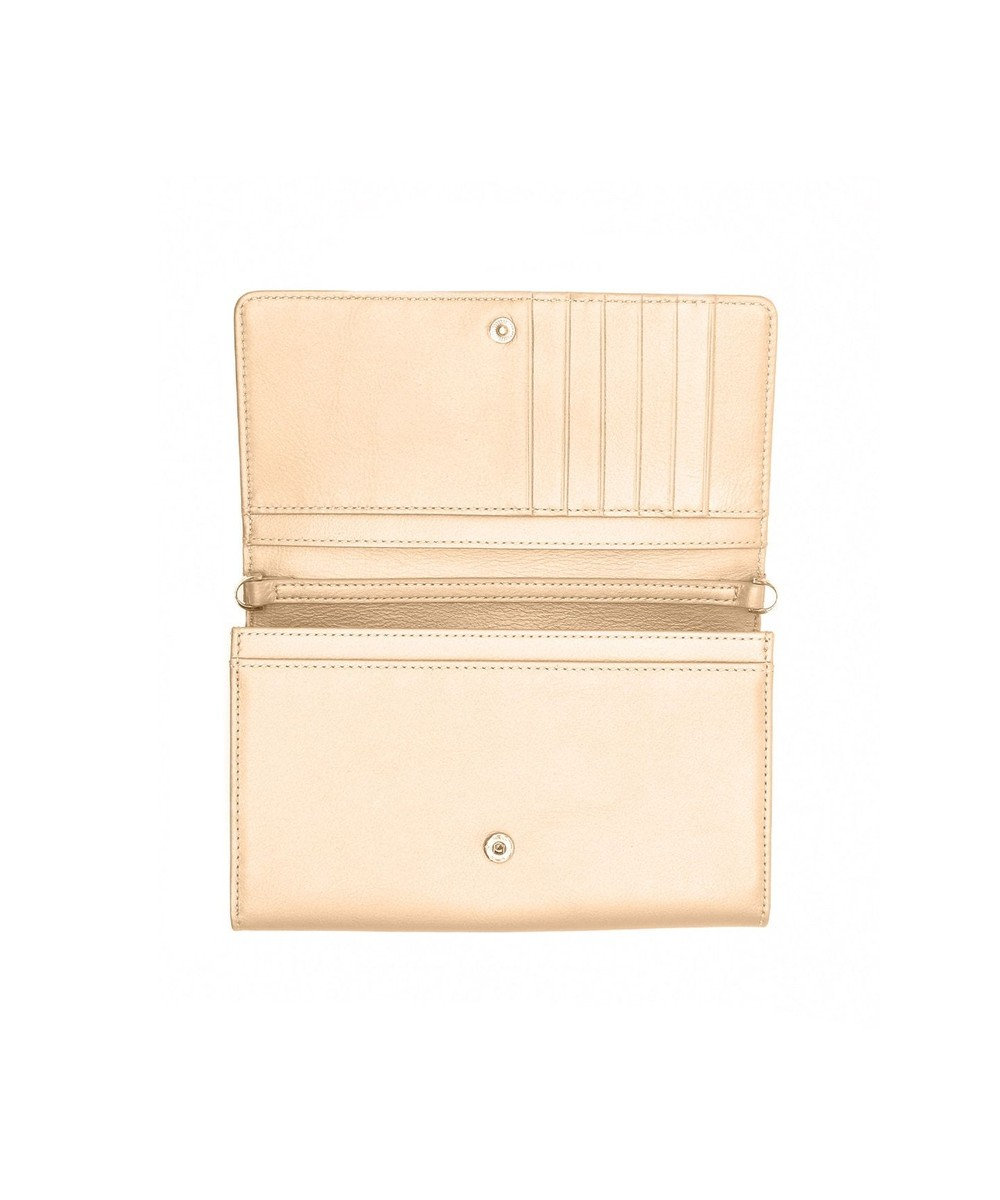 MIYABIYA GRES コパン スムースレザー お財布機能付き2wayショルダーバッグ ゴールド