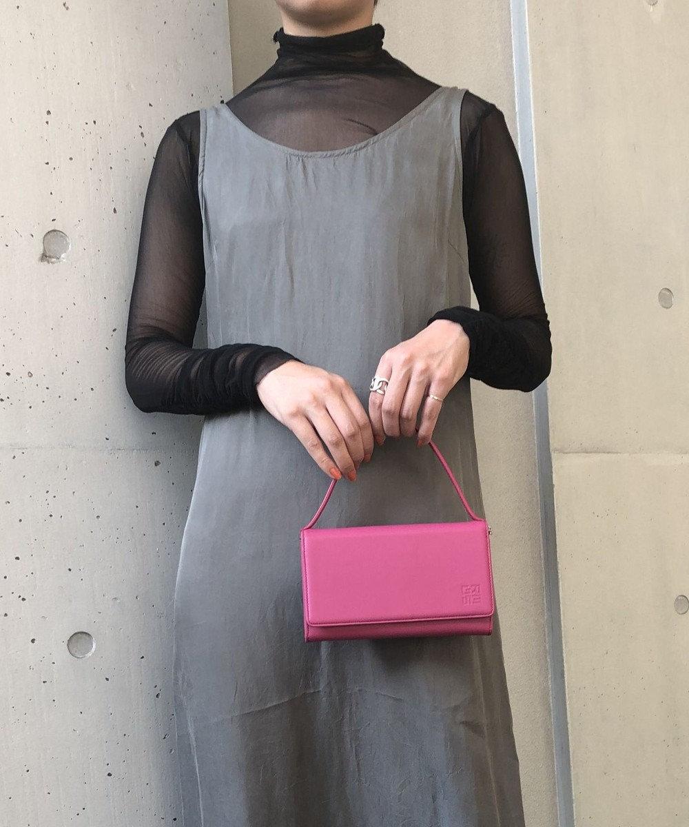 MIYABIYA GRES コパン スムースレザー お財布機能付き2wayショルダーバッグ ピンク