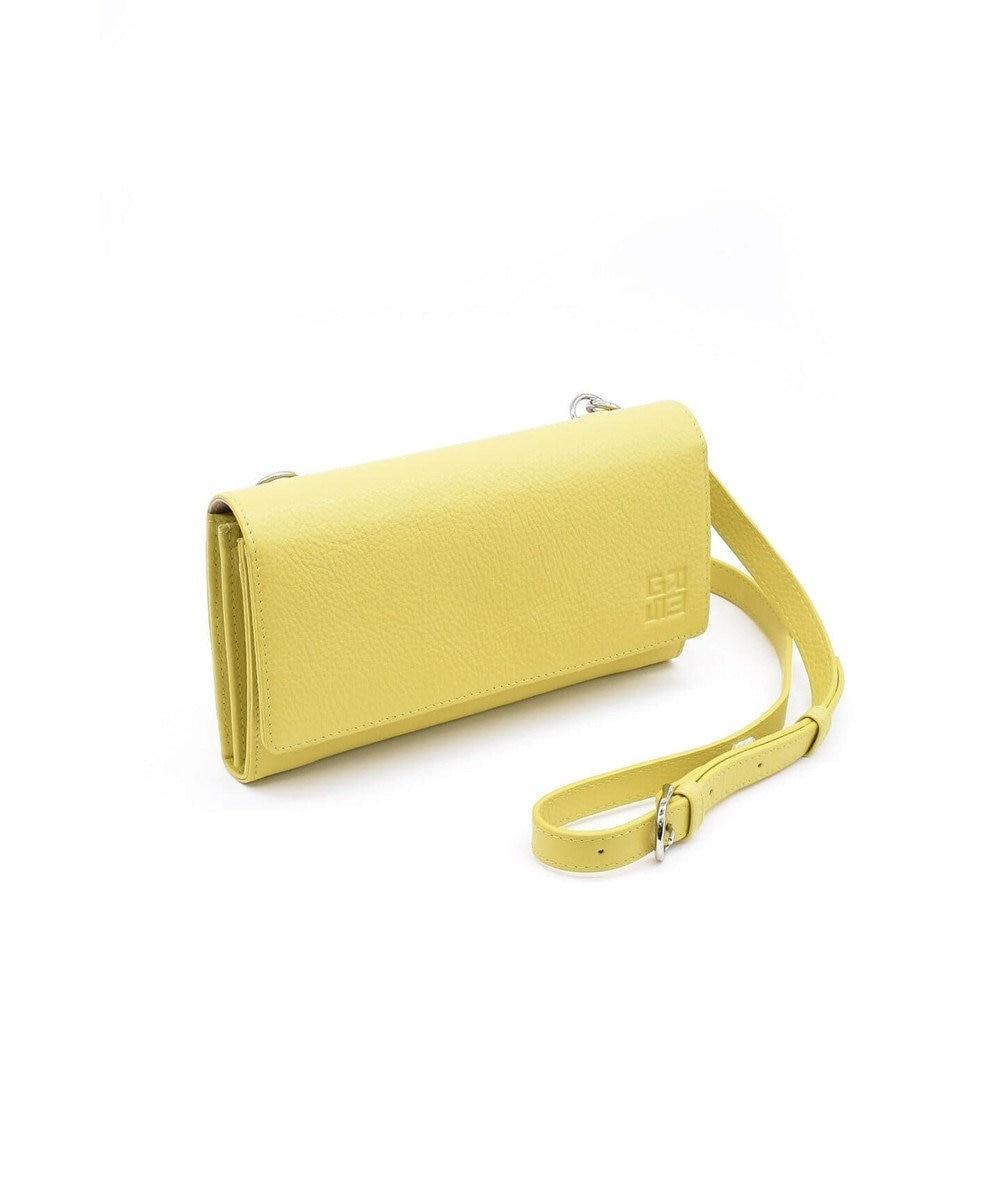MIYABIYA GRES ロレーヌ2 シュリンクレザー お財布機能付きショルダーバッグ イエロー