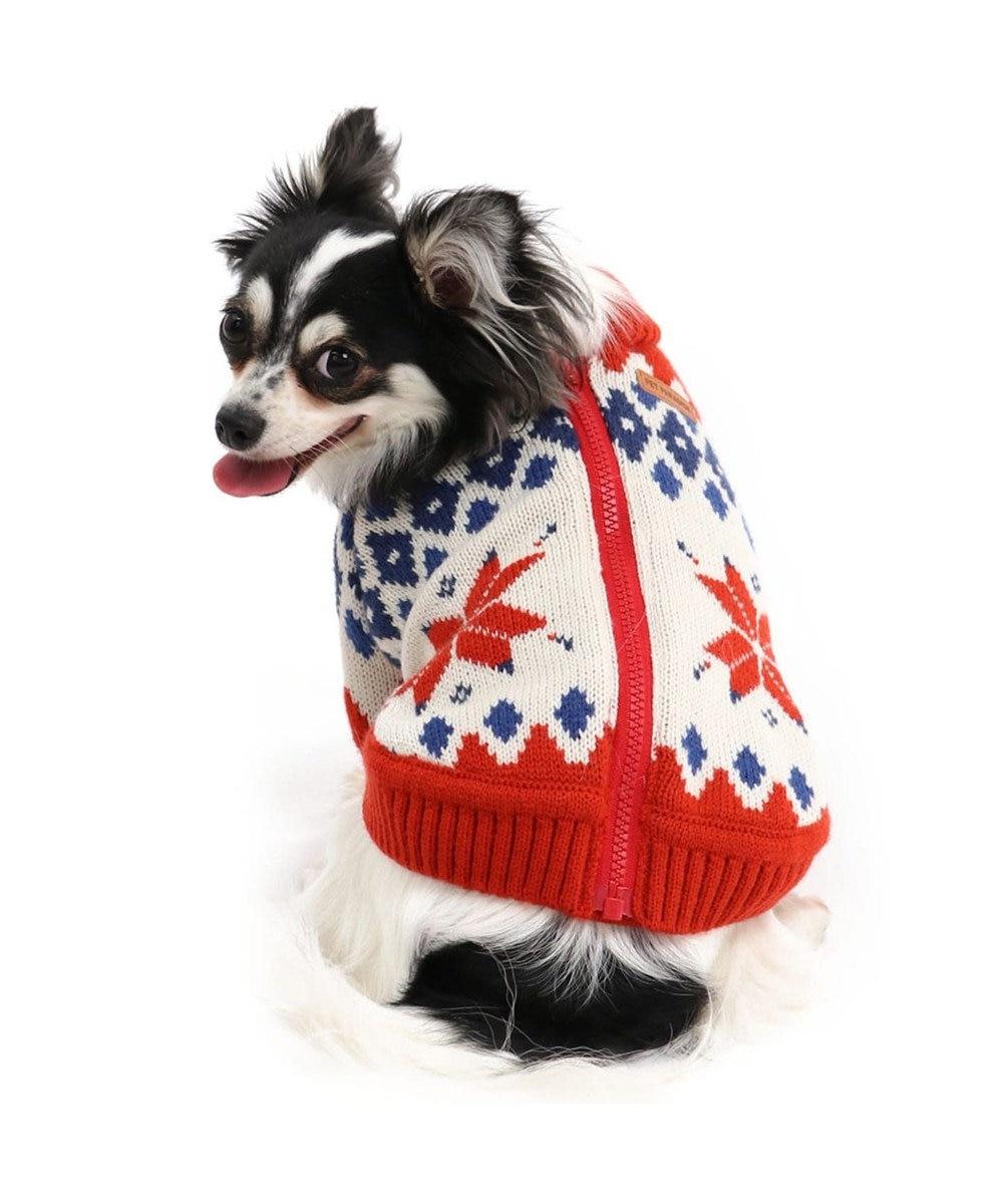 PET PARADISE ペットパラダイス カウチンニット 赤 〔超小型・小型犬〕 赤