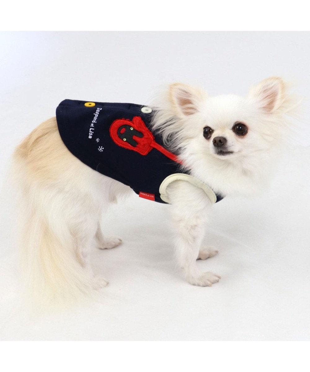 PET PARADISE リサとガスパール 背開き 手袋ベスト 〔超小型・小型犬〕 紺(ネイビー・インディゴ)