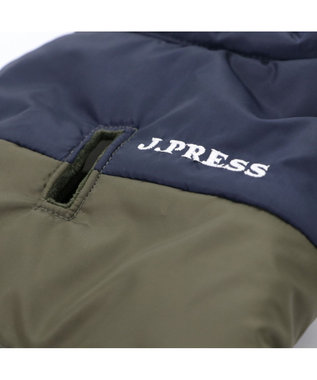 PET PARADISE J.PRESS 配色 綿入ベストカーキ 〔超小型・小型犬〕 カーキ