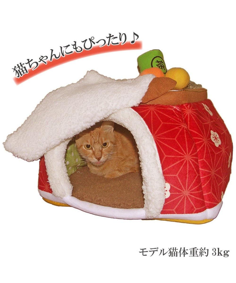 PET PARADISE ペットパラダイス こたつハウス梅 暖簾 (40cm)ペットベッド 赤