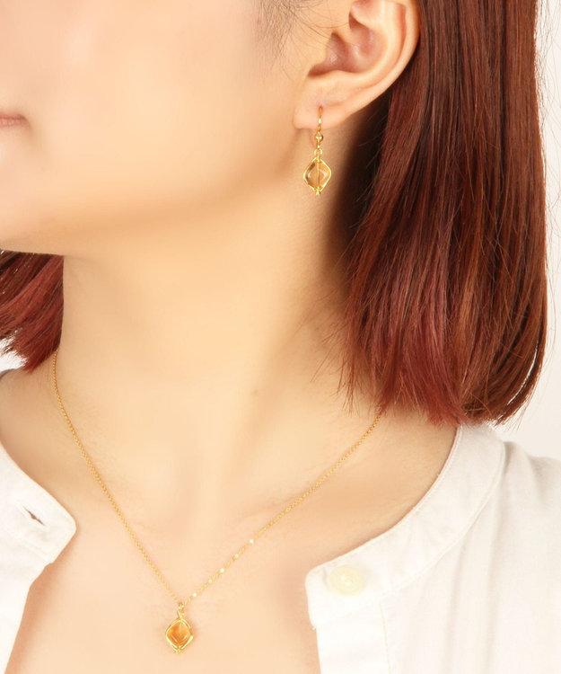 WYTHE CHARM 【特別な12誕生石】11月シトリンピアス×ネックレスセット