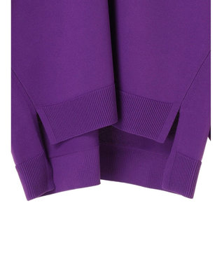 YECCA VECCA 袖ボリュームスリットニット Purple