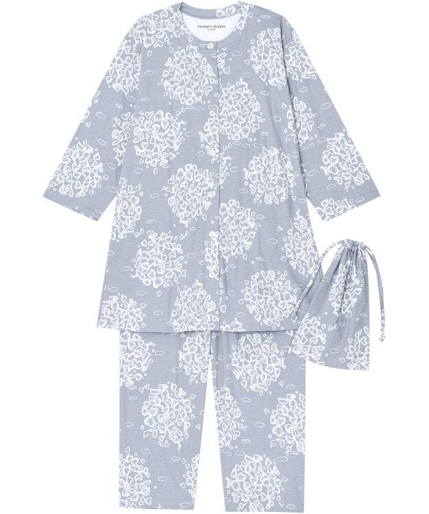 tsumori chisato SLEEP パジャマ 8分袖8分丈 サークルリーフ柄 /ワコール UDQ127