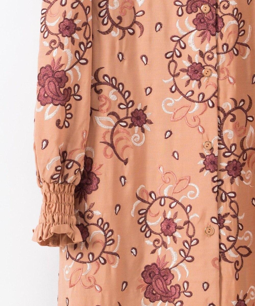 GRACE CONTINENTAL 刺繍シャツワンピース ベージュ