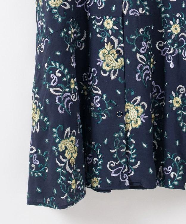 GRACE CONTINENTAL 刺繍シャツワンピース