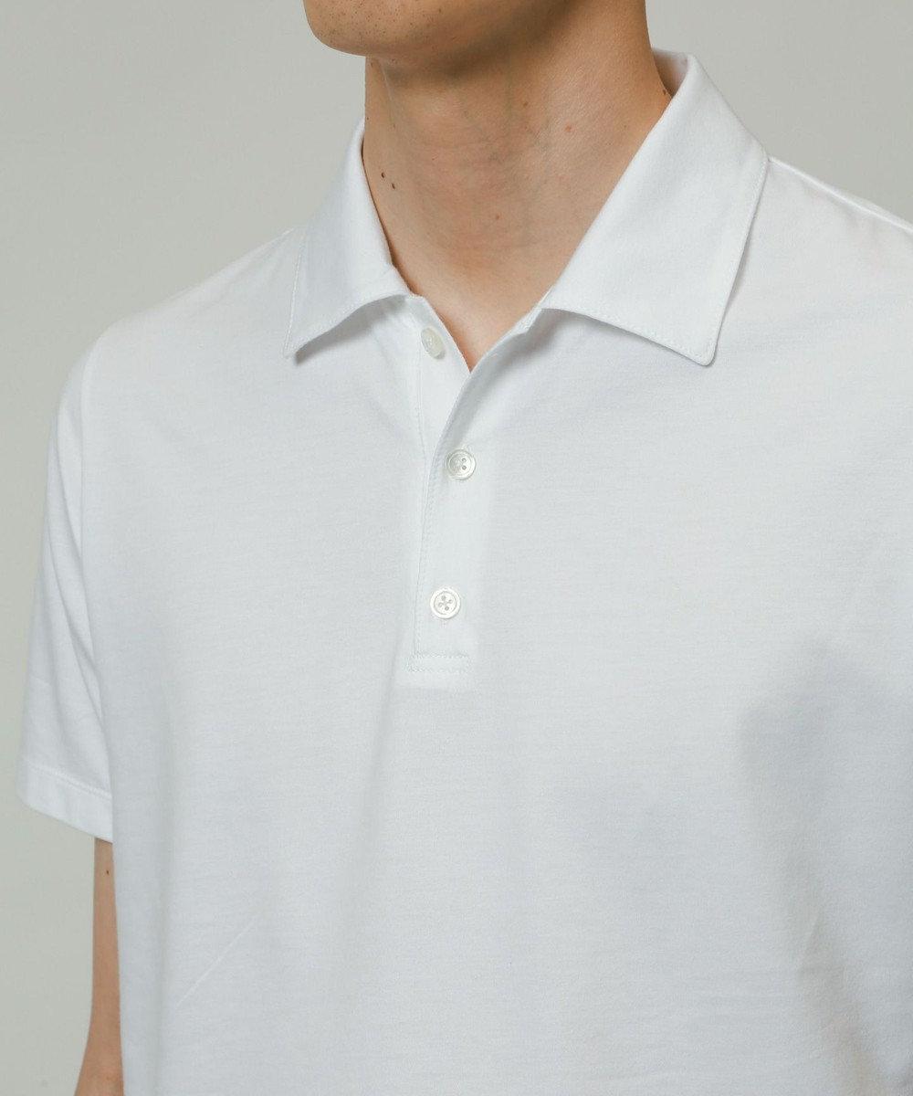 KASHIYAMA ゴールドプレミアム天竺ポロシャツ 白