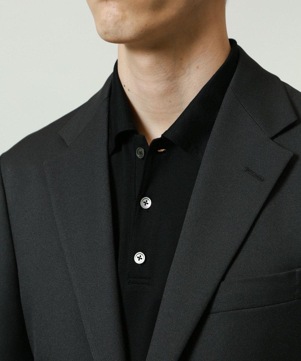 KASHIYAMA ゴールドプレミアム天竺ポロシャツ 黒