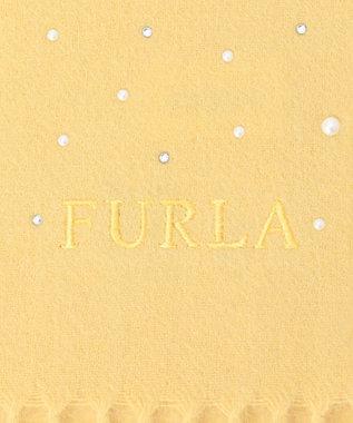MOONBAT FURLA ラインストーンマフラー レモンイエロー