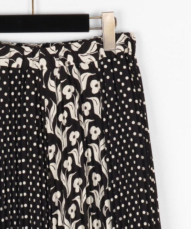 GRACE CONTINENTAL バイカラープリントスカート