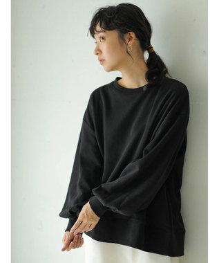 earth music&ecology オーガニックコットン裏毛(クルー) Black
